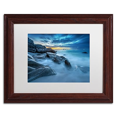 Trademark Fine Art Mathieu Rivrin 'Blue Hour for a Blue Ocean'  11 x 14 (RV0033-W1114MF)
