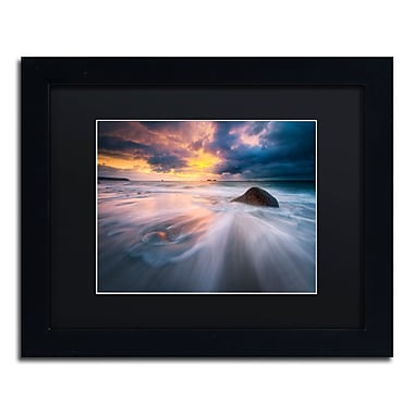 Trademark Fine Art Mathieu Rivrin 'Ocean Painting' 11 x 14 (RV0039-B1114BMF)
