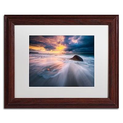 Trademark Fine Art Mathieu Rivrin 'Ocean Painting' 11 x 14 (RV0039-W1114MF)