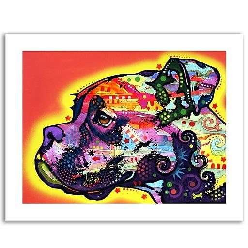 Trademark Fine Art Dean Russo 'Profile Boxer' Paper Art 18 x 24 (ALI0240-1824-P)
