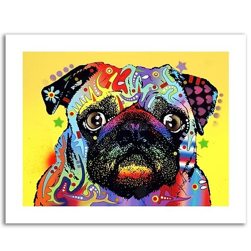 Trademark Fine Art Dean Russo 'Pug' Paper Art 18 x 24 (ALI0241-1824-P)