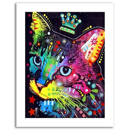 Trademark Fine Art Dean Russo 'Thinking Cat Crowned' Paper Art 18 x 24 (ALI0245-1824-P)