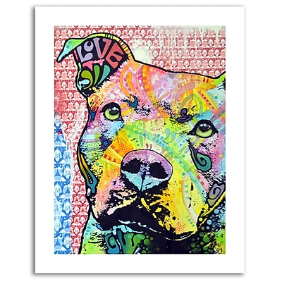 Trademark Fine Art Dean Russo 'Thoughtful Pitbull II' Paper Art 18 x 24 (ALI0261-1824-P)