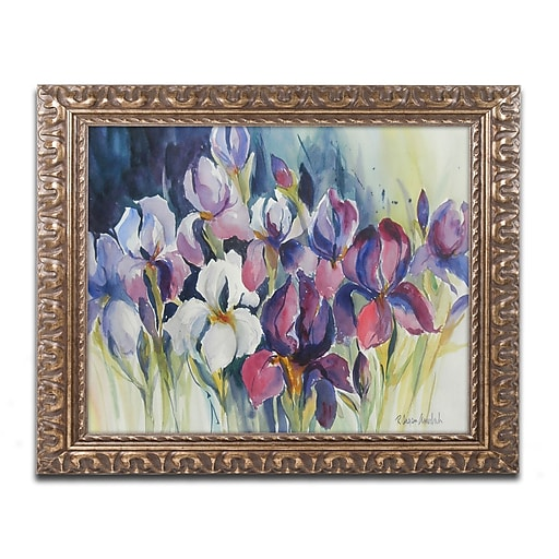 Trademark Fine Art Rita Auerbach 'White Iris'  11 x 14 (ALI0739-G1114F)