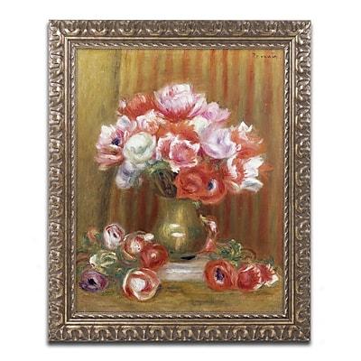 Trademark Fine Art Pierre Renoir 'Anemones 1909' 11 x 14 (BL01314-G1114F)