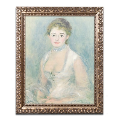 Trademark Fine Art Pierre Renoir 'Madame Henriot 1876' 11 x 14 (BL01372-G1114F)