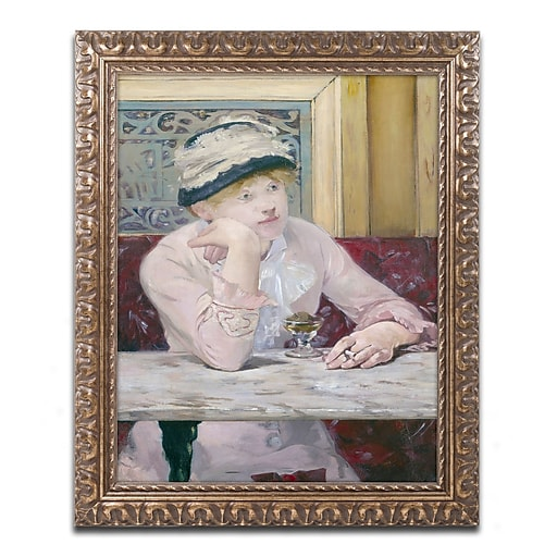 Trademark Fine Art Edouard Manet 'Plum Brandy 1877'  11 x 14 (BL01387-G1114F)
