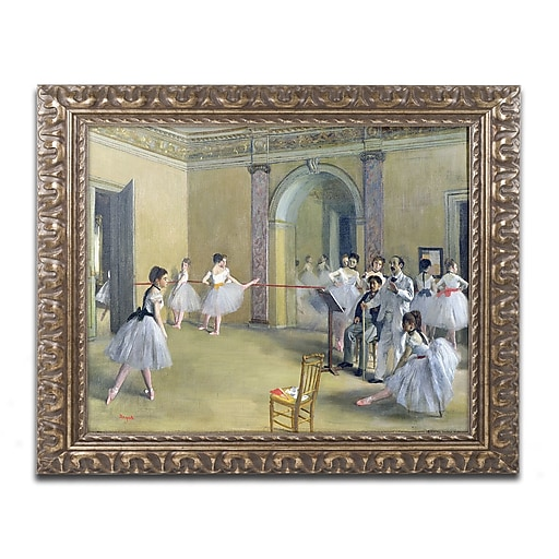 Trademark Fine Art Edgar Degas 'The Dance Foyer 1872'  11 x 14 (BL0142-G1114F)