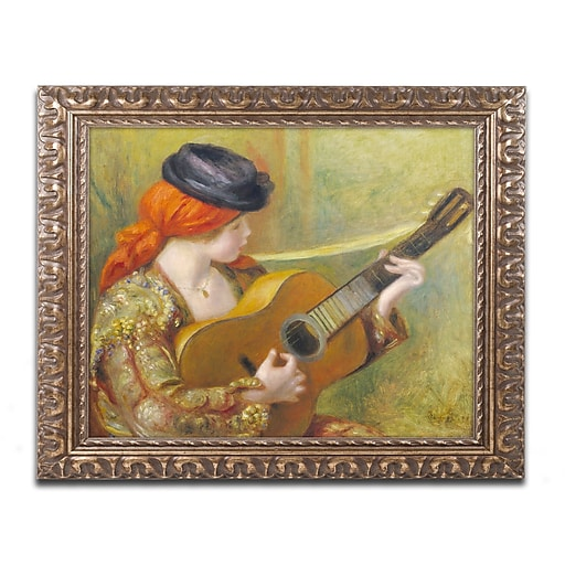 Trademark Fine Art Pierre Renoir 'Young Spanish Woman with a Guitar'  11 x 14 (BL01476-G1114F)