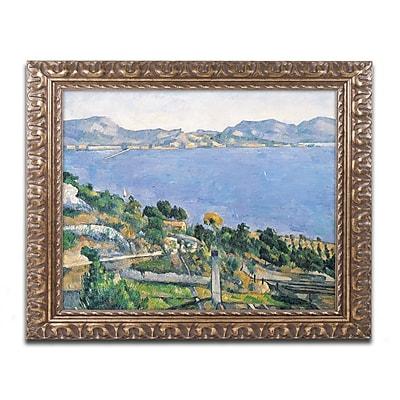 Trademark Fine Art Paul Cezanne 'The Little Bridge 1879' 11 x 14 (BL0180-G1114F)