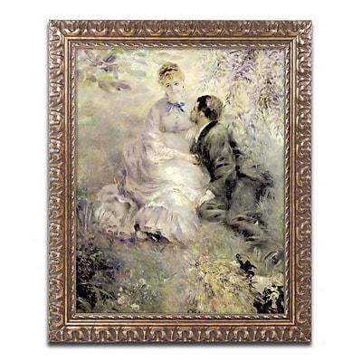 Trademark Fine Art Pierre Renoir 'The Lovers 1875' 11 x 14 (BL0199-G1114F)