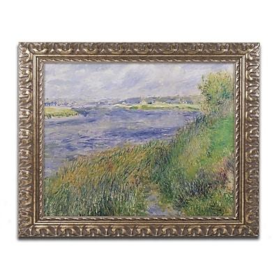 Trademark Fine Art Pierre Renoir 'The Banks of the Seine Champrosay' 11 x 14 (BL0305-G1114F)