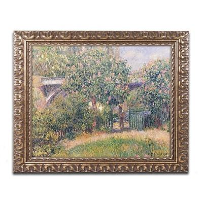 Trademark Fine Art Pierre Renoir 'Railway Bridge at Chatou 1881' 11 x 14 (BL0310-G1114F)