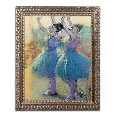 Trademark Fine Art Edgar Degas 'Two Blue Dancers' 11 x 14 (BL0325-G1114F)