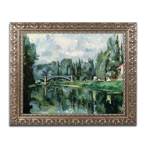 Trademark Fine Art Paul Cezanne 'The Banks of the Marne at Creteil'  11 x 14 (BL0378-G1114F)