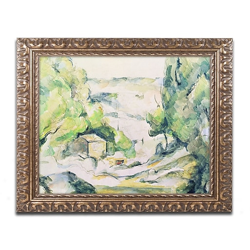 Trademark Fine Art Paul Cezanne 'Countryside in Provence'  11 x 14 (BL0392-G1114F)