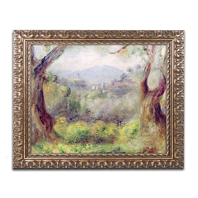 Trademark Fine Art Pierre Renoir 'Landscape at Les Collettes' 11 x 14 (BL0426-G1114F)
