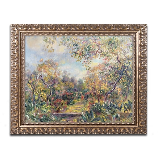Trademark Fine Art Pierre Renoir 'Landscape at Beaulieu'  11 x 14 (BL0448-G1114F)