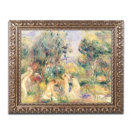 Trademark Fine Art Pierre Renoir 'The Bathers'  11 x 14 (BL0496-G1114F)