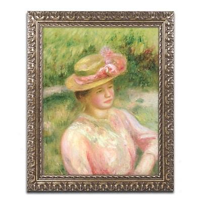 Trademark Fine Art Pierre Renoir 'The Straw Hat' 11 x 14 (BL0500-G1114F)
