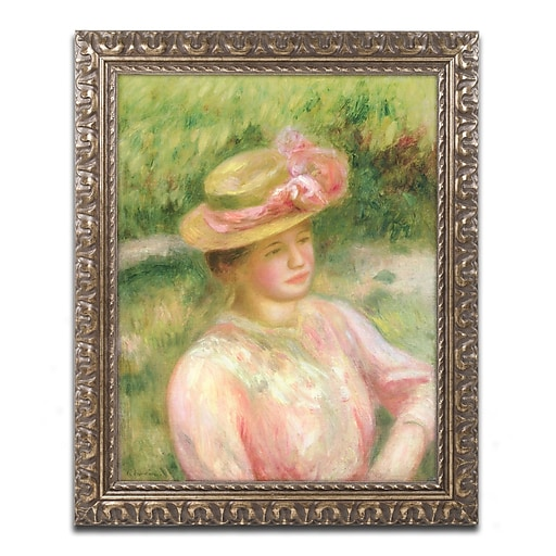 Trademark Fine Art Pierre Renoir 'The Straw Hat'  11 x 14 (BL0500-G1114F)