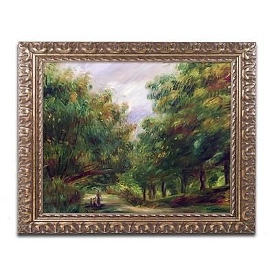 Trademark Fine Art Pierre Renoir 'The Road Near Cagnes' 11 x 14 (BL0502-G1114F)