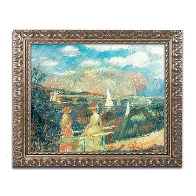 Trademark Fine Art Pierre Renoir 'Banks of the Seine at Argenteuil' 11 x 14 (BL0504-G1114F)