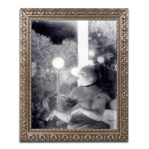 Trademark Fine Art Edgar Degas 'The Cafe Concert'  11 x 14 (BL0607-G1114F)