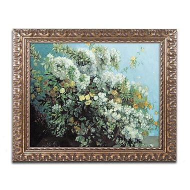 Trademark Fine Art Gustave Courbet 'Flowering Branches and Flowers' 11 x 14 (BL0647-G1114F)