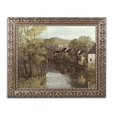 Trademark Fine Art Gustave Courbet 'The Refection of Ornans' 11 x 14 (BL0755-G1114F)