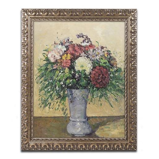 Trademark Fine Art Paul Cezanne 'Bouquet of Flowers in a Vase'  11 x 14 (BL0783-G1114F)