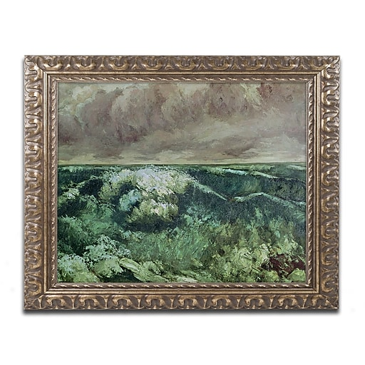Trademark Fine Art Gustave Courbet 'The Wave After 1870'  11 x 14 (BL0791-G1114F)