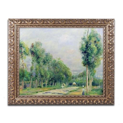 Trademark Fine Art Pierre Renoir 'The Road to Versailles'  11 x 14 (BL0798-G1114F)