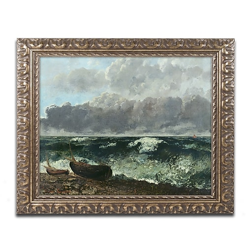 Trademark Fine Art Gustave Courbet 'The Stormy Sea'  11 x 14 (BL0809-G1114F)