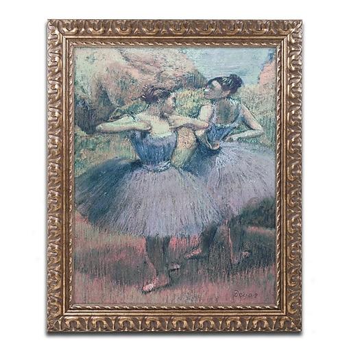 Trademark Fine Art Edgar Degas 'Dancers in Violet'  11 x 14 (BL0857-G1114F)