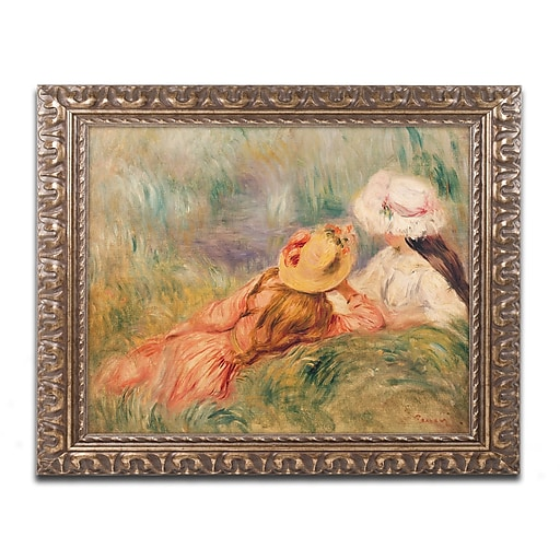Trademark Fine Art Pierre Renoir 'Young Girls by the Water'  11 x 14 (BL0946-G1114F)
