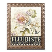 "Trademark Global Lisa Audit 'Marche de Fleurs III' 16"" x 20"" Ornate Framed Art (WAP0198-G1620F)"