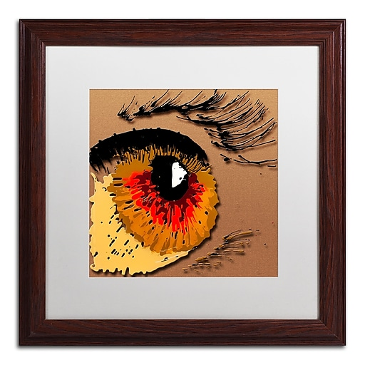 Trademark Fine Art Roderick Stevens 'Eye 1'  16 x 16 (RS1000-W1616MF)