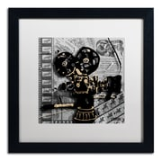 Trademark Fine Art Roderick Stevens 'Movie Camera'  16 x 16 (RS1002-B1616MF)