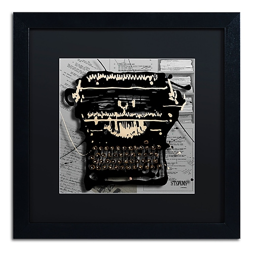 Trademark Fine Art Roderick Stevens 'Movie Typewriter'  16 x 16 (RS1005-B1616BMF)