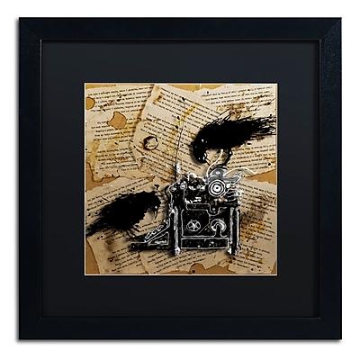 Trademark Fine Art Roderick Stevens 'Quoth the Raven 1' 16 x 16 (RS1010-B1616BMF)