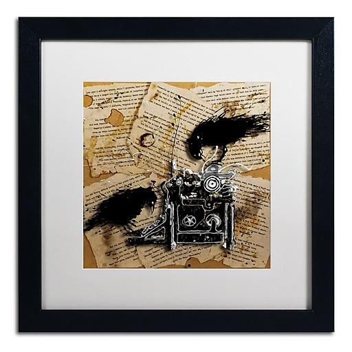 Trademark Fine Art Roderick Stevens 'Quoth the Raven 1'  16 x 16 (RS1010-B1616MF)