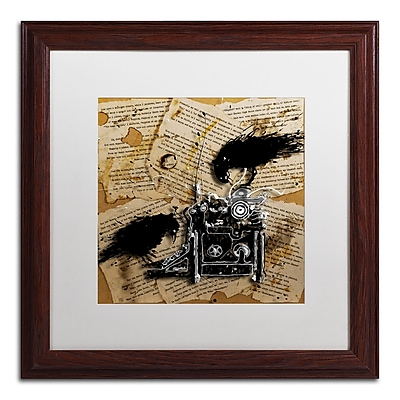 Trademark Fine Art Roderick Stevens 'Quoth the Raven 1' 16 x 16 (RS1010-W1616MF)