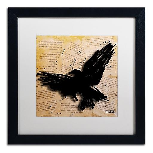 Trademark Fine Art Roderick Stevens 'The Raven 2'  16 x 16 (RS1012-B1616MF)