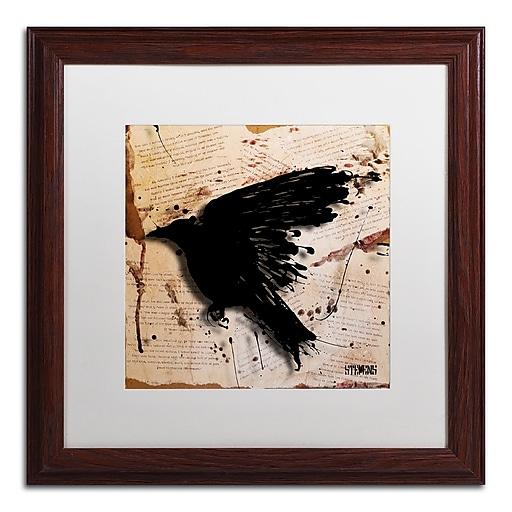Trademark Fine Art Roderick Stevens 'The Raven 3'  16 x 16 (RS1013-W1616MF)