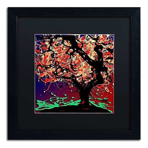 Trademark Fine Art Roderick Stevens 'Fall Red Tree'  16 x 16 (RS981-B1616BMF)