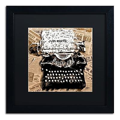 Trademark Fine Art Roderick Stevens 'Just Words 1' 16 x 16 (RS982-B1616BMF)