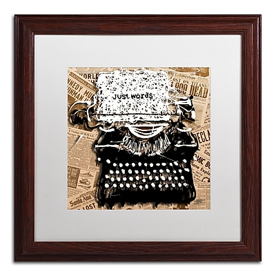 Trademark Fine Art Roderick Stevens 'Just Words 1' 16 x 16 (RS982-W1616MF)