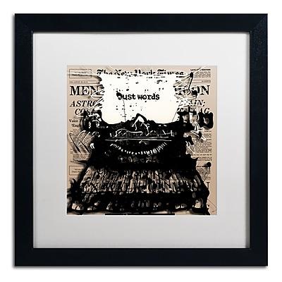 Trademark Fine Art Roderick Stevens 'Just Words 2' 16 x 16 (RS983-B1616MF)