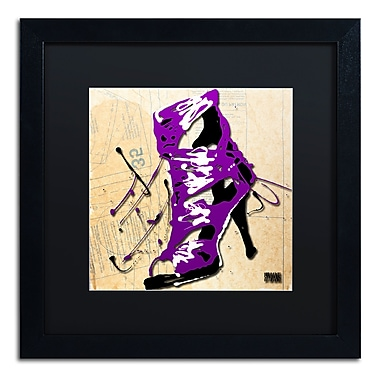 Trademark Fine Art Roderick Stevens 'Purple Strap Boot' 16 x 16 (RS986-B1616BMF)